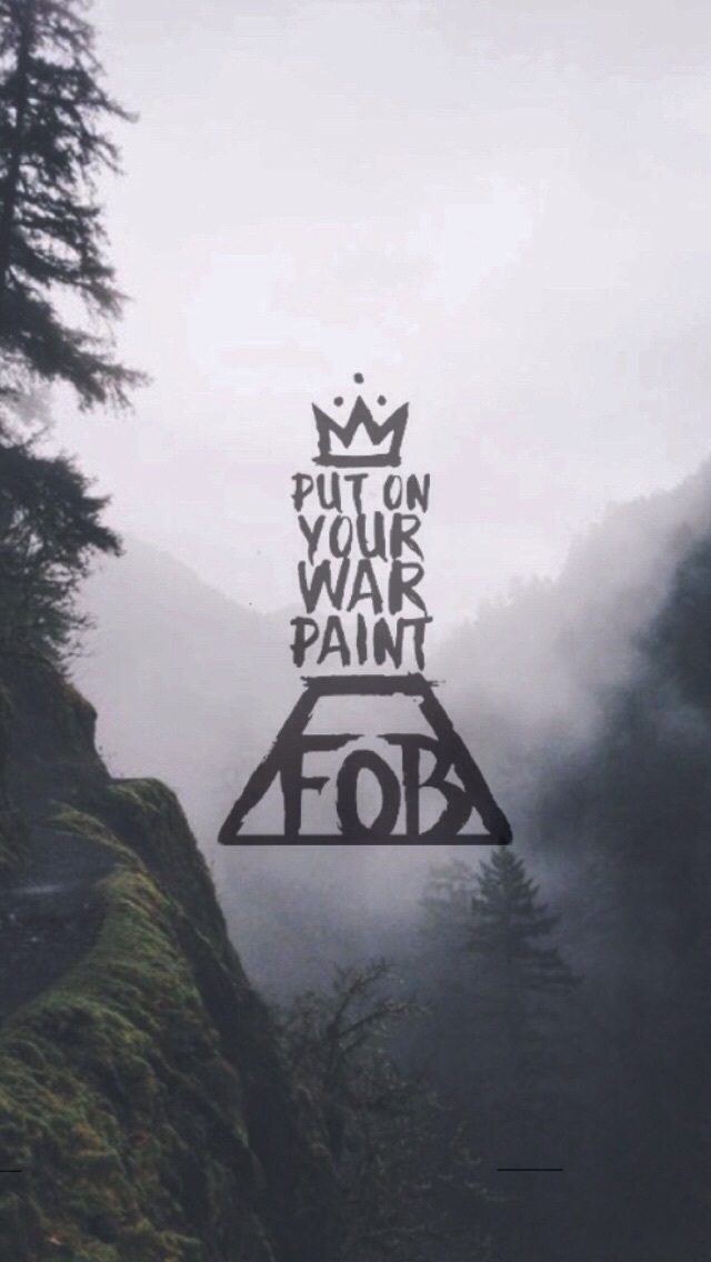 Fall Out Boy Wallpaper Logo Original Size Of Image 4236696 Favim Com