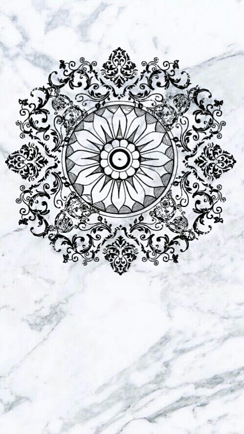 First Love Wallpapers Quotes Background Black White Mandala Wallpaper Image