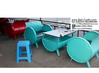 Recycled Oil Drum Chair and Cube Bali Indonesia  Bali ...