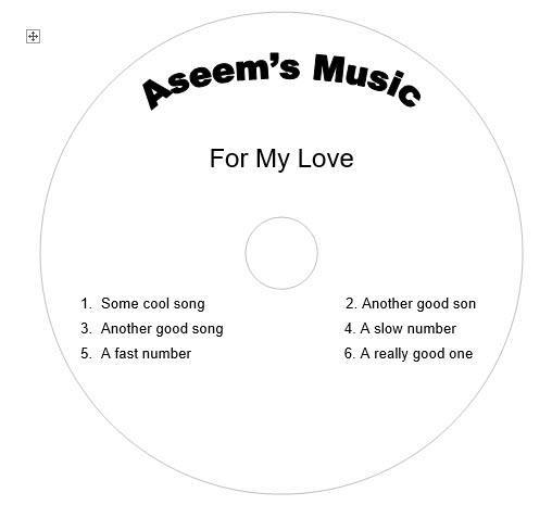 Create Your Own CD and DVD Labels using Free MS Word Templates - create cd labels