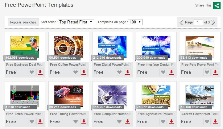 10 Great Websites for Free PowerPoint Templates - free powerpoint graphics templates