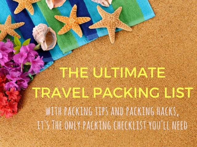 The Only Packing List Template You\u0027ll Ever Need Indiana Jo - Packing Template