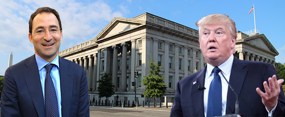 Jonathan Gray, Donald Trump and the Treasury Building in Washington, D.C.
