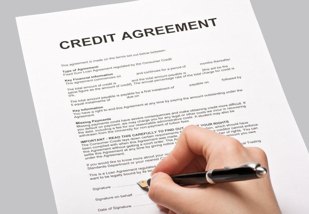 HP or a credit agreement - that is the question! - credit agreement