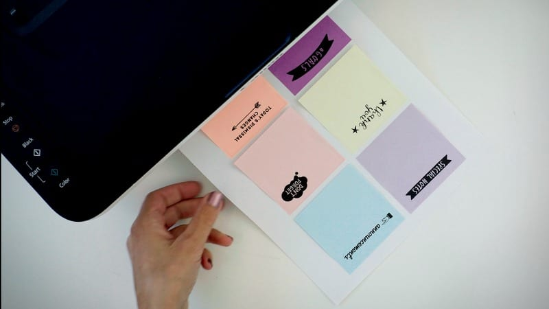 Printing on Post-its How-To, Plus Free Templates for Teachers