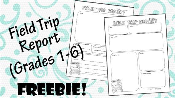 Free Printable of the Week Field Trip Report (Grades K-6