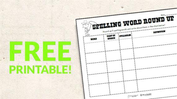 Free Printable Spelling Round Up Activity - WeAreTeachers