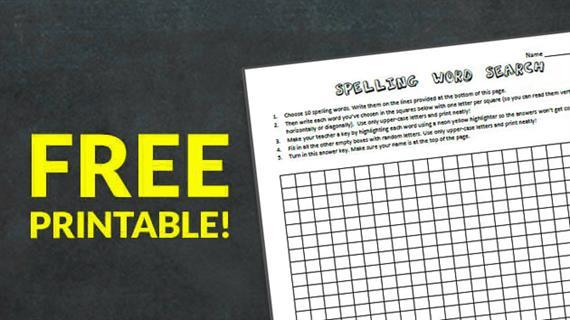 Free Printable Spelling Word Search Worksheet - WeAreTeachers