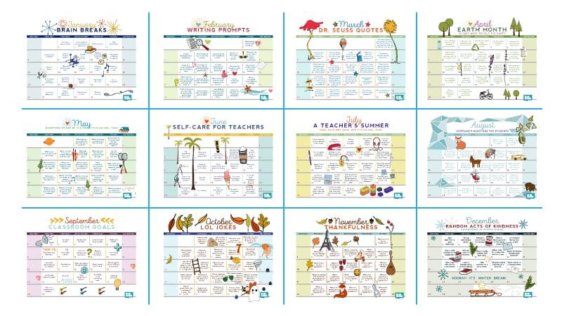 Free Printable 2019 Teacher Calendar - WeAreTeachers