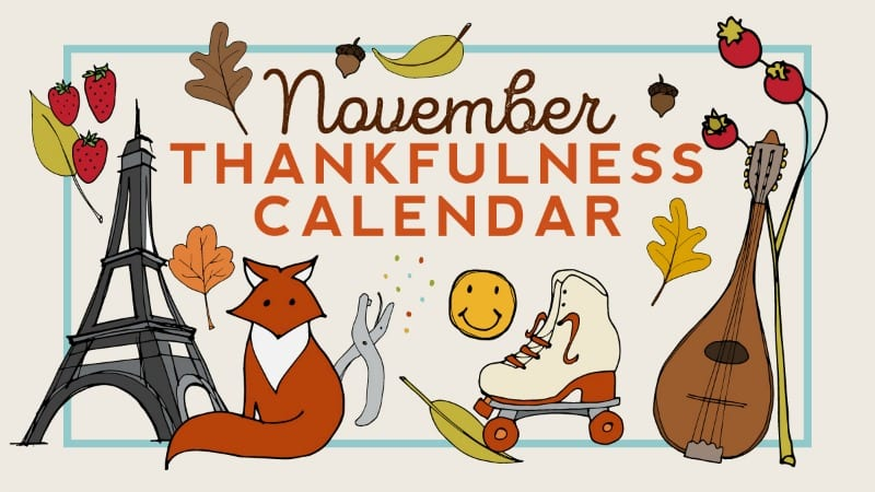 Free Nov 2018 Thanksgiving Thankfulness Calendar for Teachers