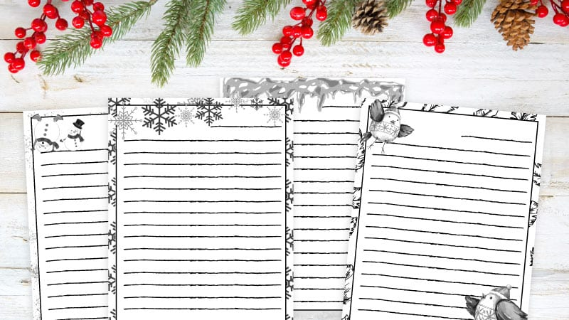Free Printable Winter Writing Paper Plus 10 Winter Writing Prompts