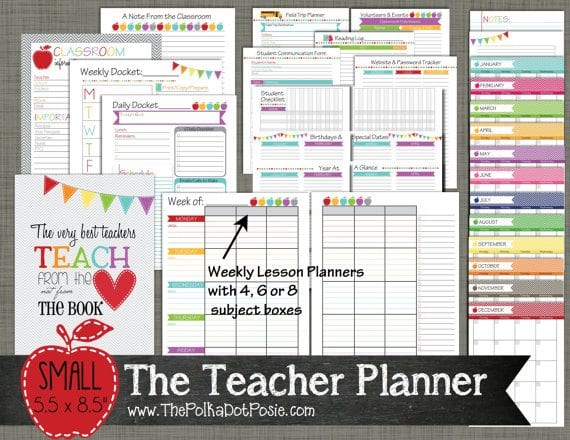 10 Awesome Planners for Teachers Erin Condren, Lesson Plans, Etc