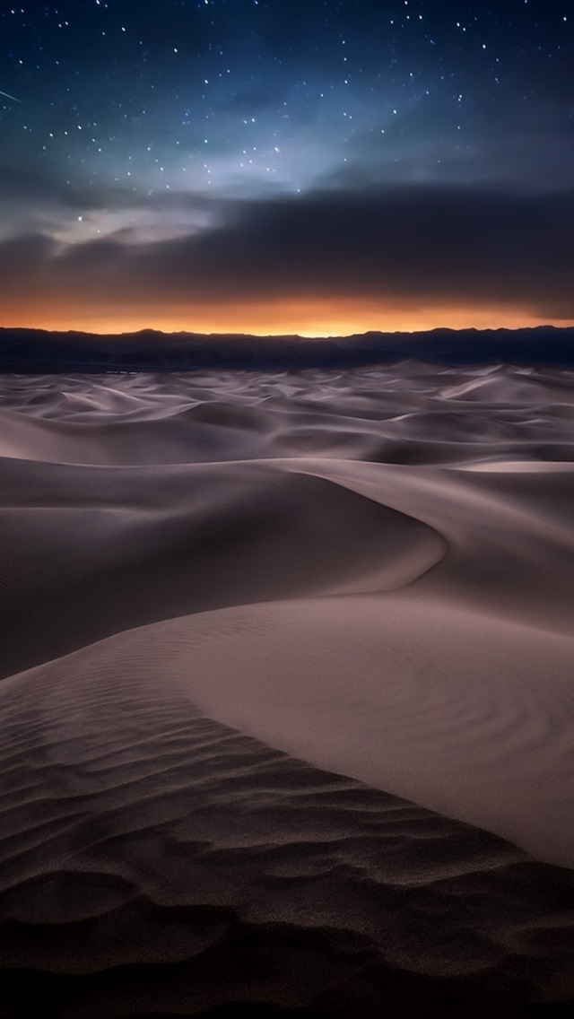 Cute Wallpapers For Iphone 6s Plus Desert Night Starry 640x1136 Iphone 5 5s 5c Se Wallpaper