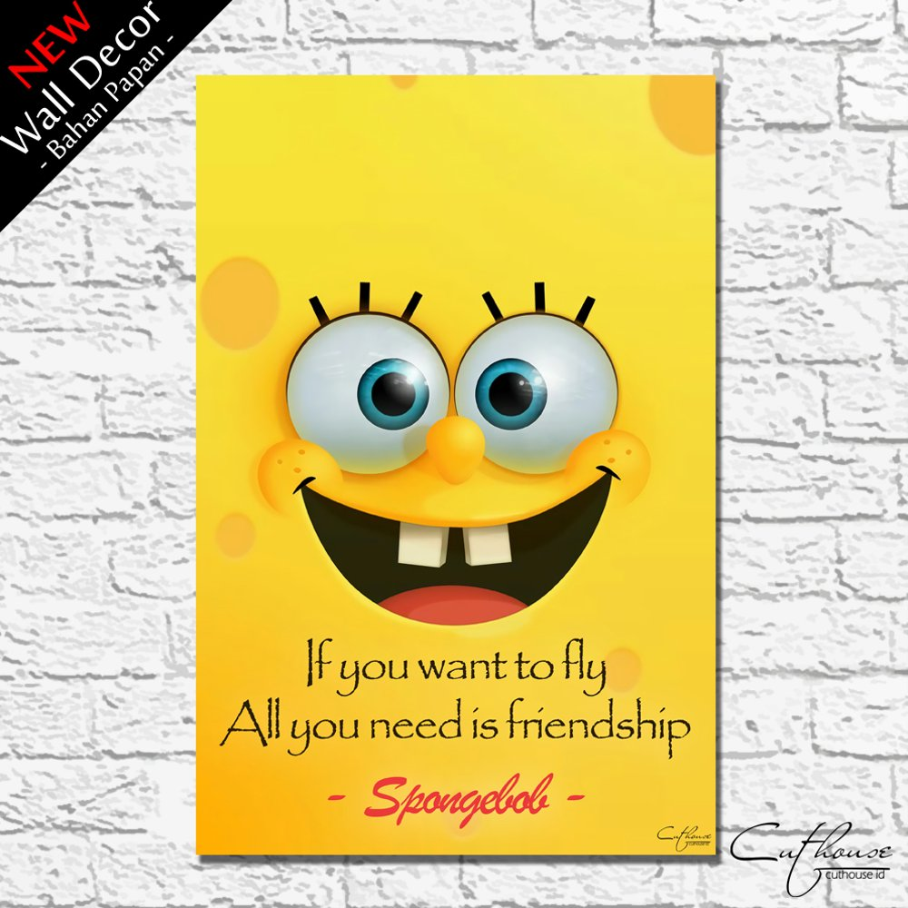 Dekorasi Kamar Spongebob Wdg007 Spongebob Home Wall Decor Hiasan Pajangan Dinding Pictbox Poster Quotes Kartun