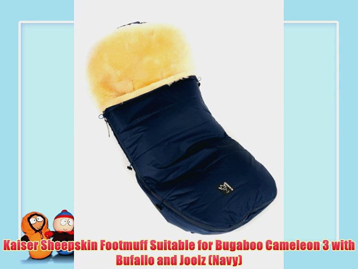 Poussette Bugaboo Cameleon 3 Kaiser Sheepskin Footmuff Suitable For Bugaboo Cameleon 3 With Bufallo And Joolz Navy