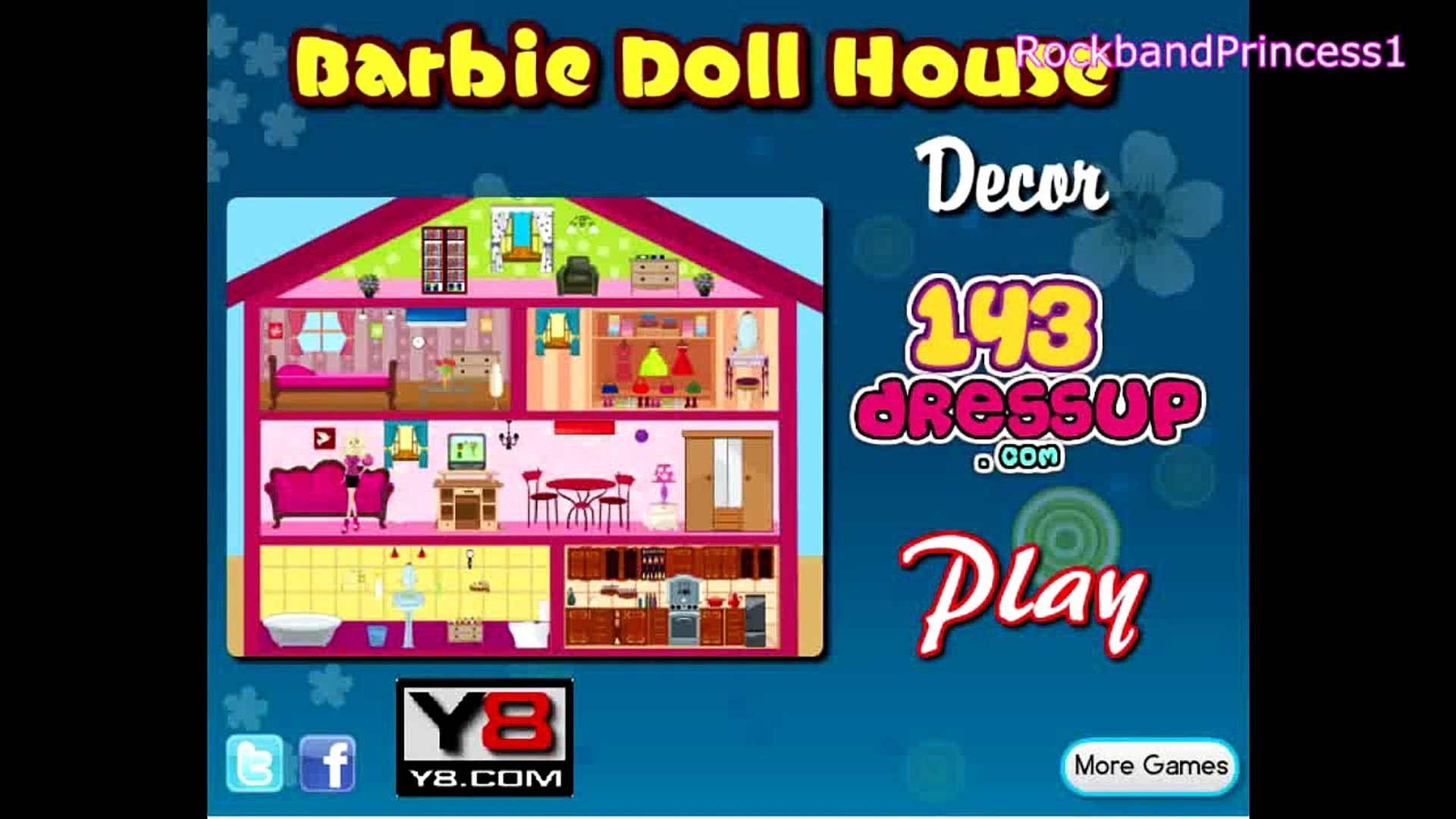 Y8 Decoration De Maison Girl Video Barbie Doll House Games For Girls