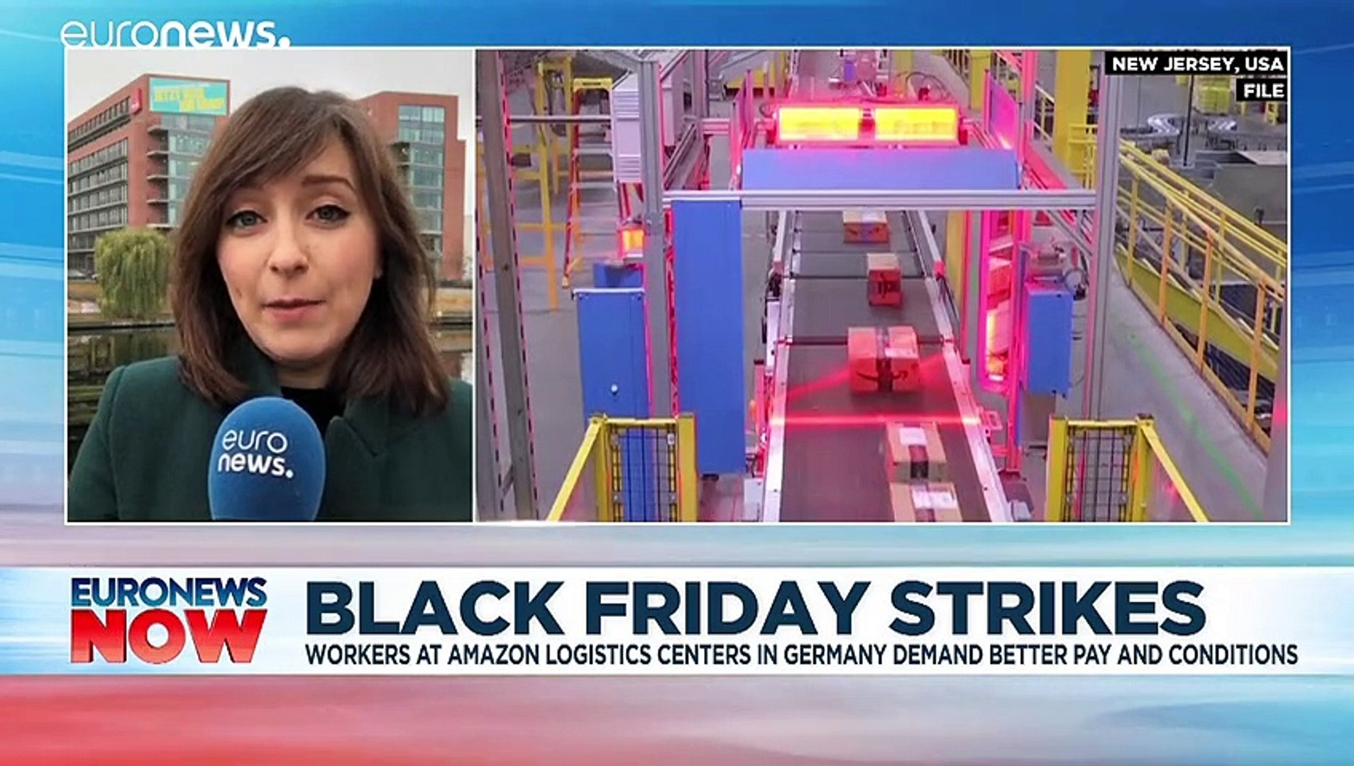 Black Friday Amazon Workers In Germany Go On Strike Over Working Conditions Video Dailymotion