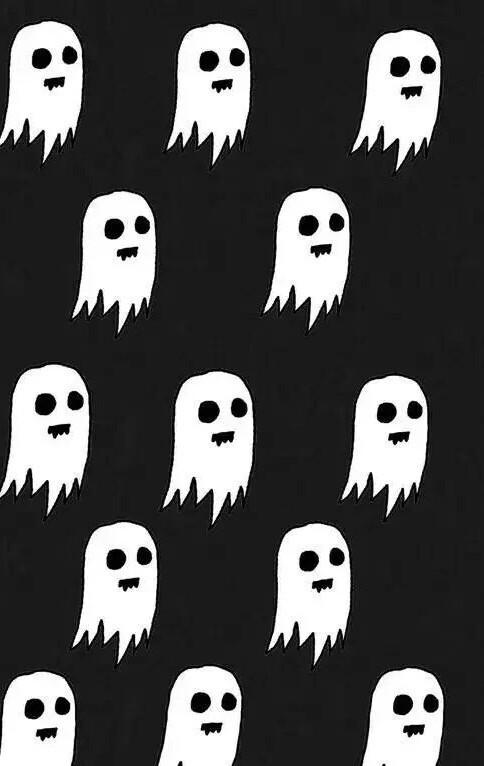 Cute Fall Wallpaper Iphone 5 Fond Noir Et Blanc Fantome Halloween Apparition