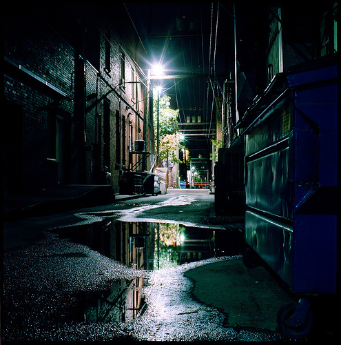 Wallpaper Of Lonely Girl In Rain Alley Cool Moscow Night Photography Image 251877 On