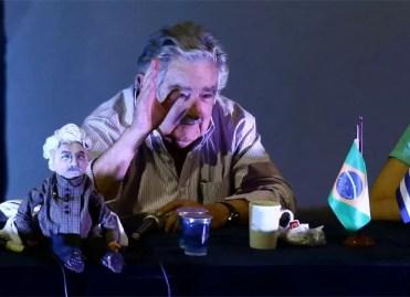 Ex-presidente do Uruguai José Mujica durante debate com jovens (Foto: Wilton Junior/Estadão Conteúdo)
