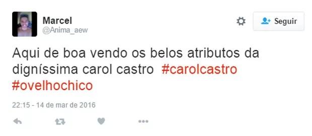 Internauta comenta nudez de Carol Castro em 'Velho Chico' (Foto: Reprodução/Twitter)