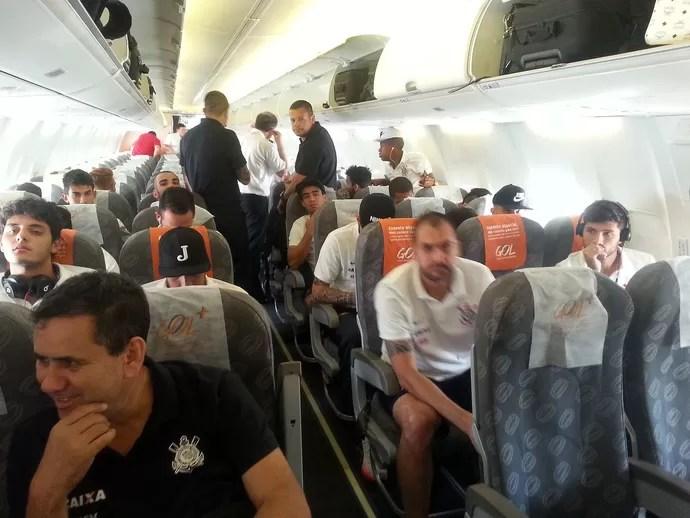 Chegada do Corinthians a São Paulo (Foto: Rodrigo Faber / Globoesporte.com)