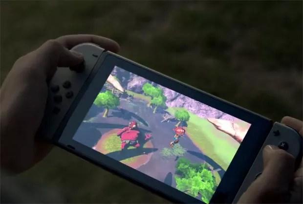 Nintendo Switch, novo videogame da Nintendo. (Foto: Reprodução/Nintendo)