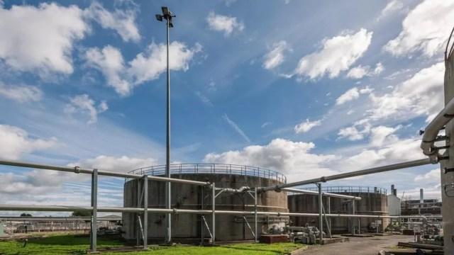 Em Bristol (Inglaterra), a empresa Wessex Water instalou uma planta de biogás para transformar esgoto em biometano (Foto: Wessex Water/GENeco)
