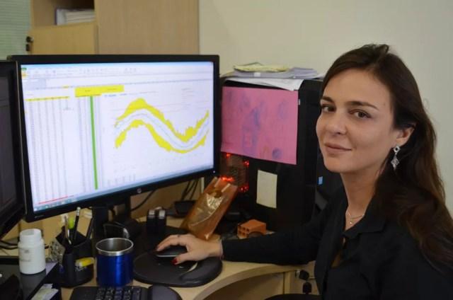 Engenheira hidrológa da CPRM  Joana Pinheiro (Foto: Hosana Morais/G1)