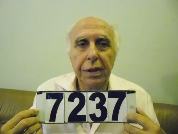 Após ser preso, Roger Abdelmassih faz foto de identificação no Paraguai (Foto: Divulgação/Senad)