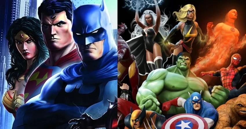 Lg G6 3d Wallpaper Dc Universe X Marvel Heroes Veja As Diferen 231 As Entre Os