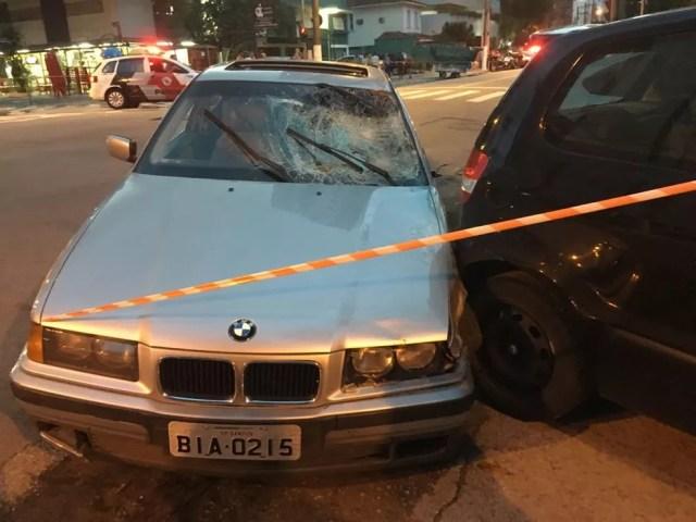 Carro atropelou ambulante (Foto: Arquivo Pessoal)