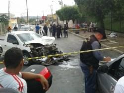 ... do motociclista foi retirado do local. (Foto: Adriano Soares / TVCA