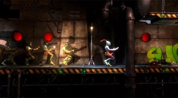 Oddworld: New n Tasty! é uma releitura de Oddworld: Abes Odysee, do PSOne (Foto: Divulgação/Just Add Water)