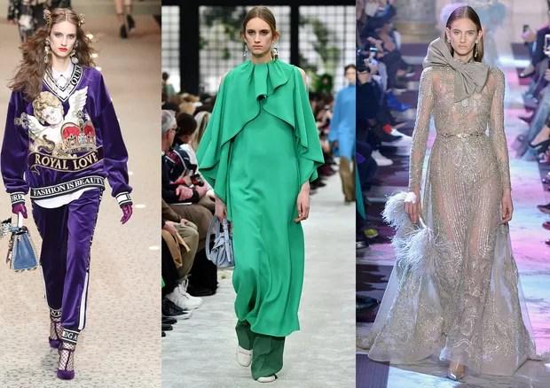 Dolce & Gabbana, Valentino e Elie Saab (Foto: IMaxTree, Getty e Antonio Barros)