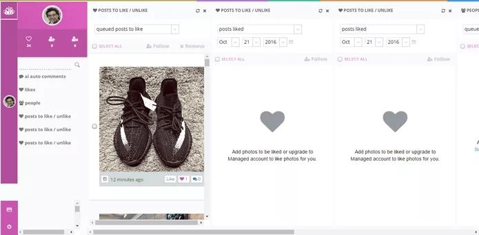 Site possui ferramentas de automatização do Instagram (Foto: Reprodução/River)