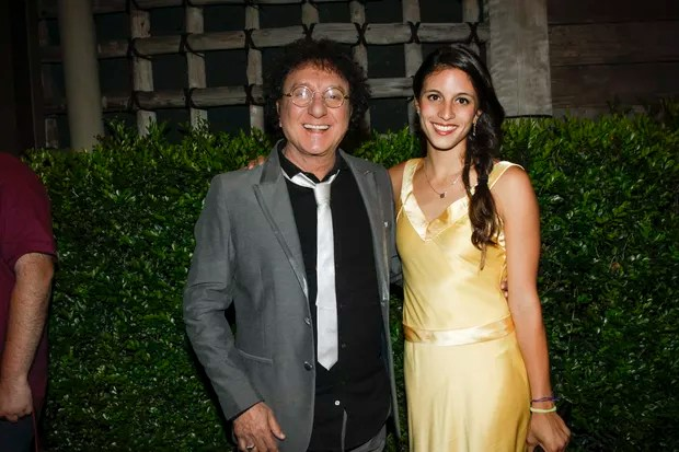 Sílvio Brito e filha Larissa no Casamento Fabio Jr (Foto: Celso Tavares / EGO)