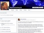 Mark Zuckerberg Divulga O Acordo Da Pra Do WhatsApp Em Seu Perfil