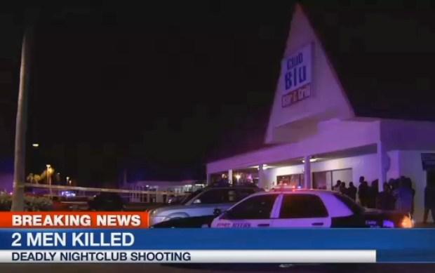 Estacionamento do Club Blu Bar and Grill, em Fort Myers, Flórida (Foto: WBBH via AP)