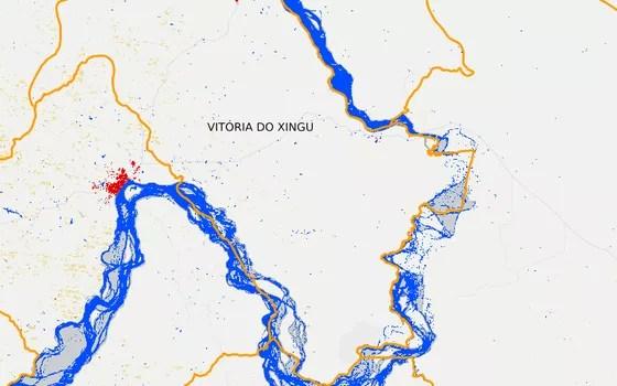 Vitória do Xingu em 2012 (Foto: MapBiomas)