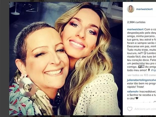 Mariana Weickert faz homenagem a Betty Lago (Foto: Reprodução/Instagram)