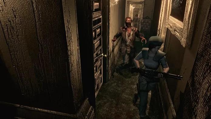 Resident Evil HD Remaster dá ao primeiro game da série gráficos e gameplay atuais (Foto: Reprodução/YouTube)