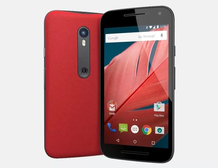 Moto G3 tem chip quad-core e versões 3G e 4G (Foto: Divulgação/Motorola)  Moto G Turbo ou Moto G 3: as diferenças entre os celulares da Motorola moto g 2015 3 geracao 1