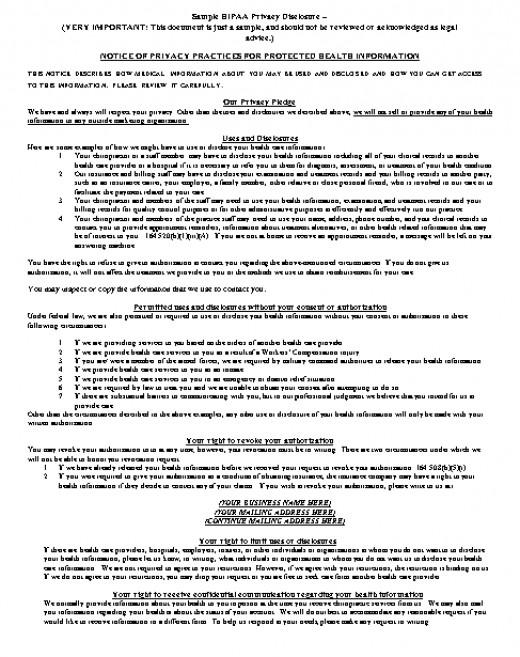 Sample HIPAA Compliant Release Forms - hipaa compliant release form