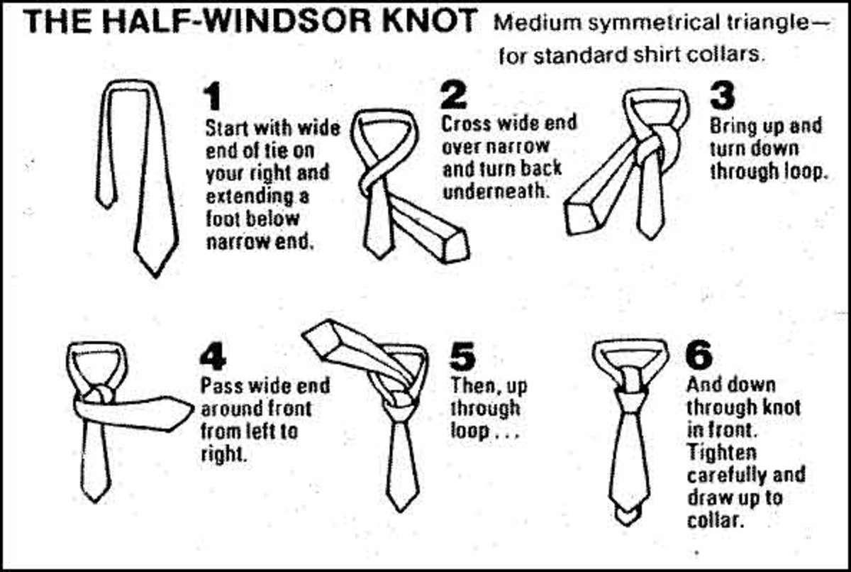 half windsor knot diagram