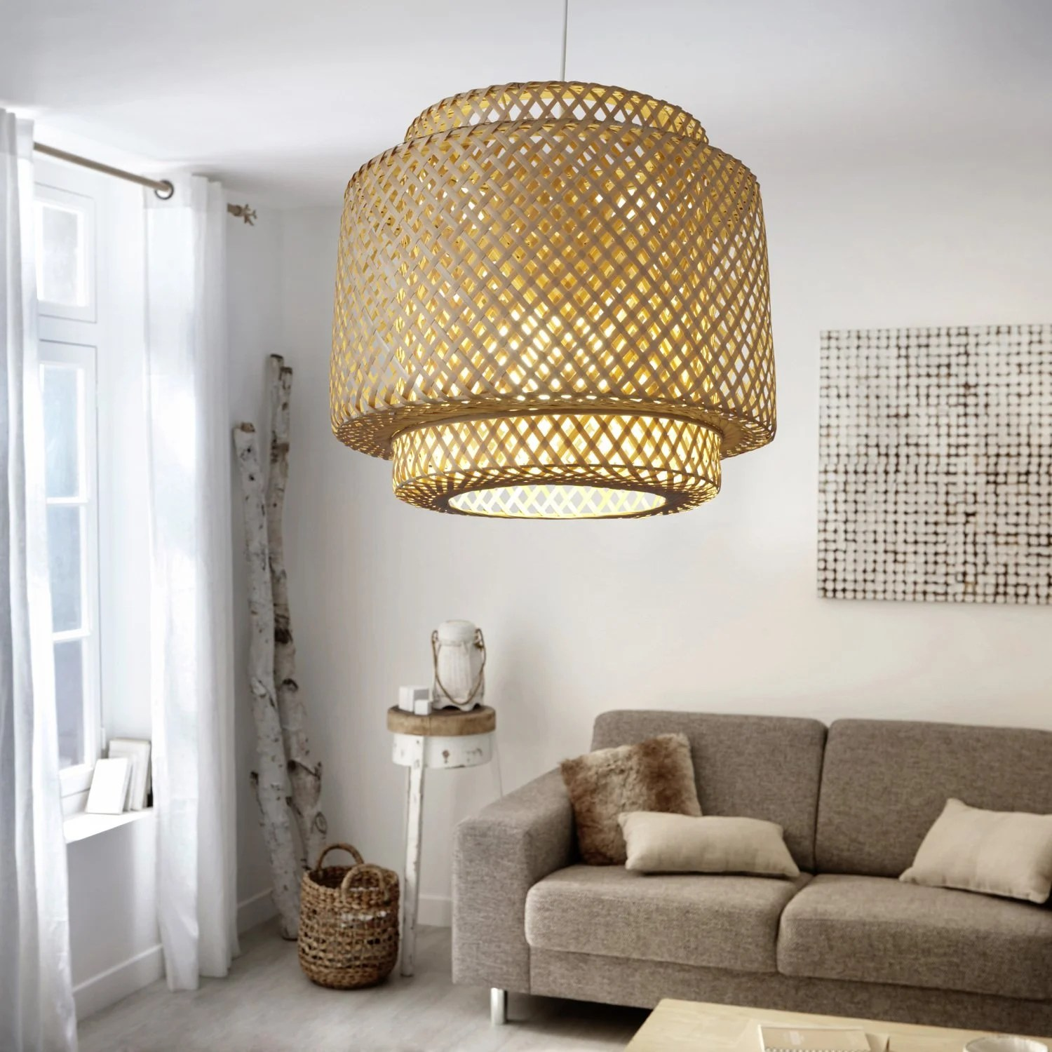Suspension Bambou Leroy Merlin Suspension Naturelle En Bambou Qui Affiche Un Look