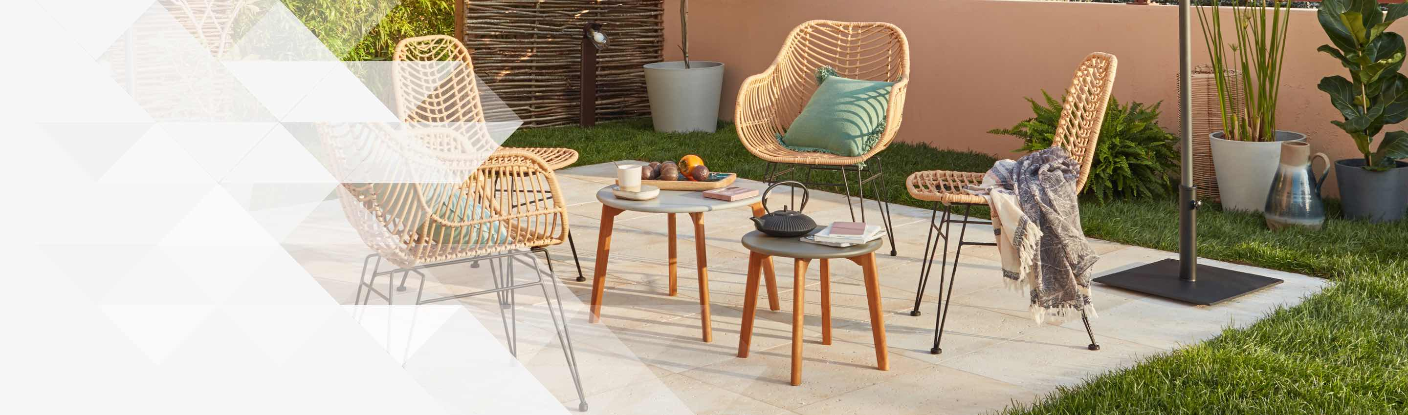 Mobilier De Jardin Wicker Salon De Jardin Table Et Chaise Mobilier De Jardin Leroy Merlin
