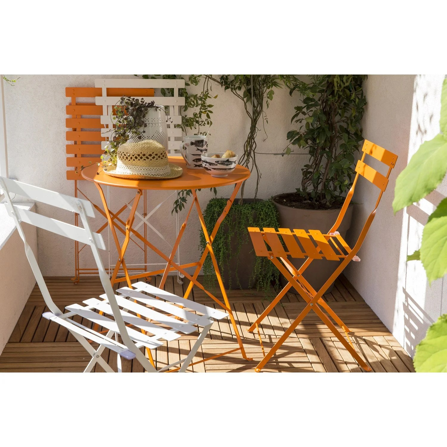 Salon De Jardin Orange Salon De Jardin Flore Orange 2 Personnes Leroy Merlin
