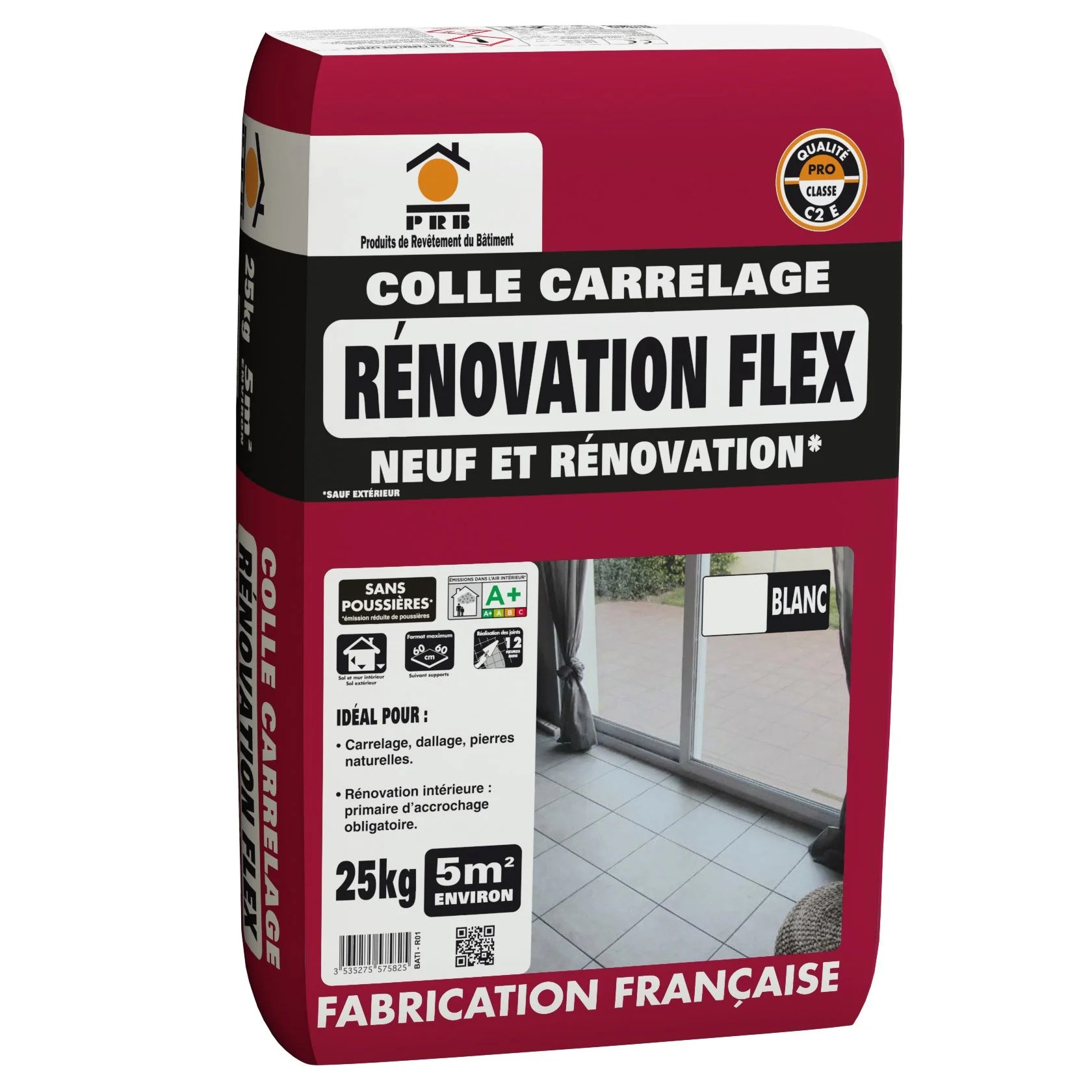 Colle Carrelage Flex Leroy Merlin Mortier Colle Flex Blanc Prb, 25 Kg | Leroy Merlin