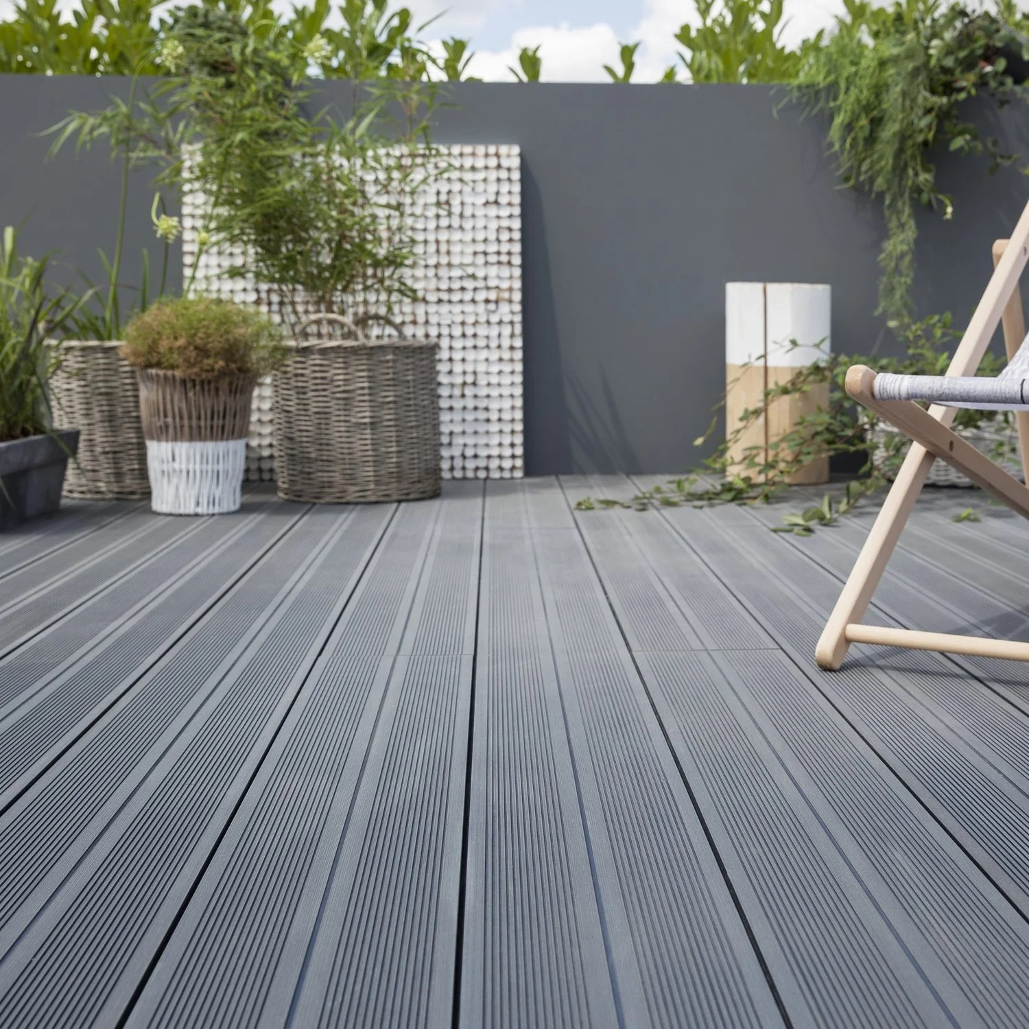 Destockage Lame Terrasse La Fantaisie Des Terrasses Composite Leroy Merlin